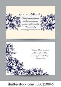 Romantic invitation. Wedding, marriage, bridal, birthday, Valentine's day. Isolated.