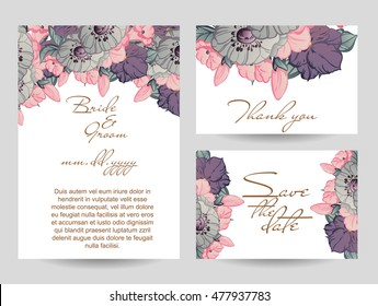 Romantic invitation. Wedding, marriage, bridal, birthday, Valentine's day