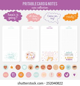 romantic love cards notes stickers labels stock vector royalty free