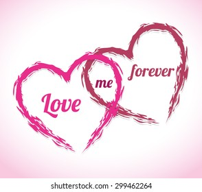 Romantic love design, vector illustration eps 10.