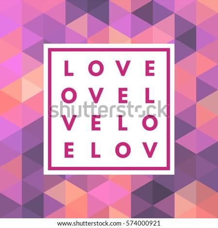 Romantic Love Minimal Logo Frame On Stock Vector (Royalty Free ...