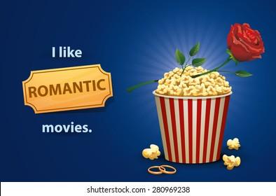 Romantic movies, vector