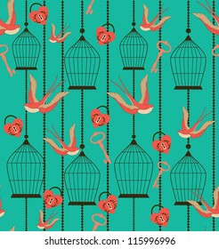 romantic pattern. vector illustration