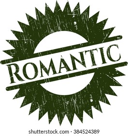 Romantic rubber stamp with grunge texture