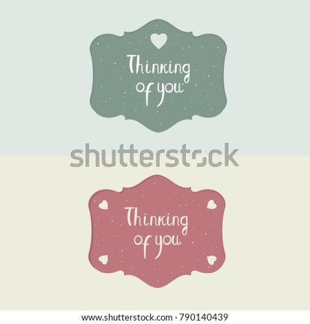 Romantic Vintage Tablets Valentines Day Carved Stock Vector (Royalty