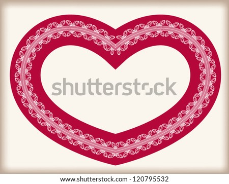 Romantic Vintage Valentine Heart Red Lace Stock Vector Royalty Free