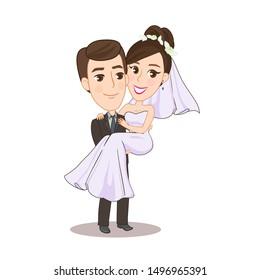 Romantic Wedding Couple  Character vector