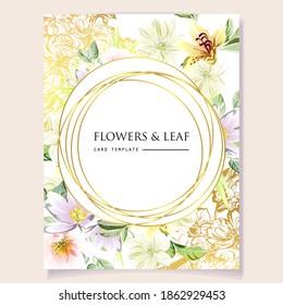 Romantic wedding invitation card. Wedding, marriage, bridal, birthday, Valentine's day.