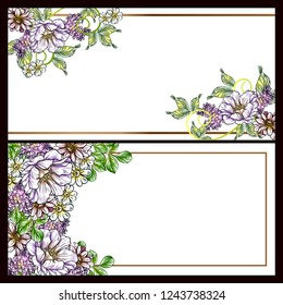 Romantic wedding invitation card suite. Wedding, marriage, bridal, birthday, Valentine's day.