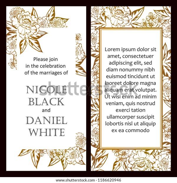 Romantic Wedding Invitation Card Suite Wedding Stock Vector ...