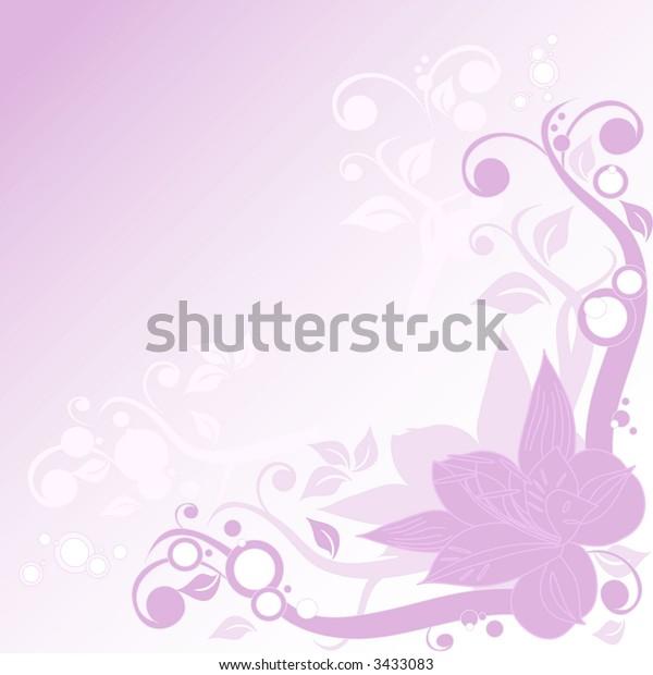 Romantic wedding ornament, vector