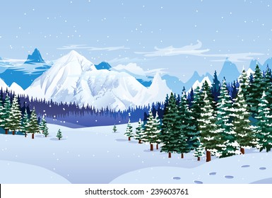 Romantic winter landscape