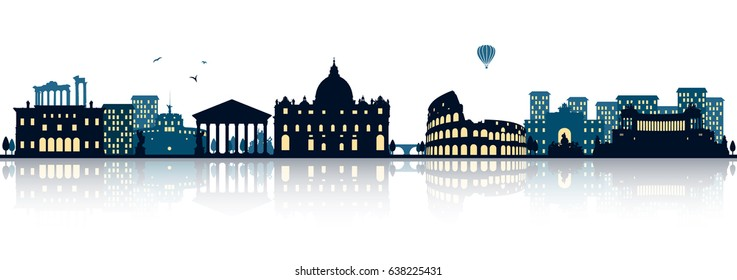 Rome skyline (italy)