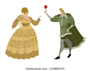 romeo and juliet with a flower