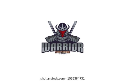 Ronin - Samurai logo design template,samurai warrior logo design vector illustration,e-sport logo design template