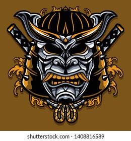 Ronin tattoo design. masks traditional