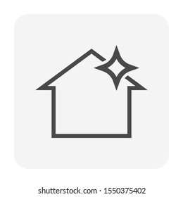 Roof cleaning vector icon design for home problem graphic design element.