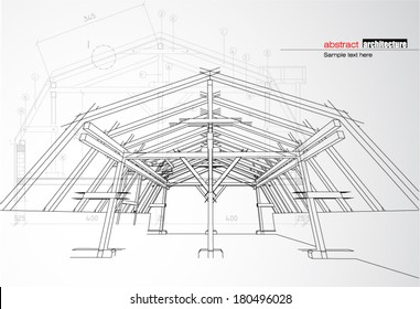 Roofing Blueprints Images Stock Photos Vectors Shutterstock