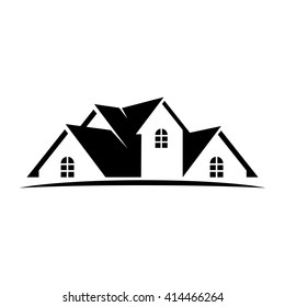 roof and home logo vector. house icon.