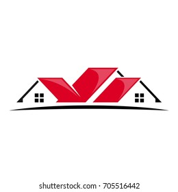 roof of home vector logo