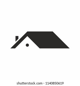 Roof house icon logo. Vector