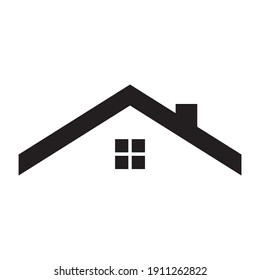 Roof of the house isolated icon, roof vector icon