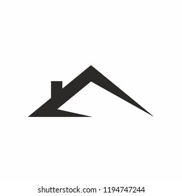 Roof house logo icon. Vector