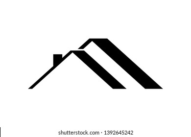 roof of house, logo, vector illustration