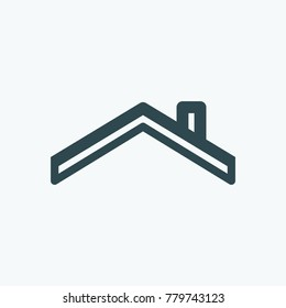 Roof of the house, roof vector icon