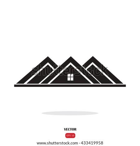 Roof Icon Stock Vektorgrafik Lizenzfrei 433419958 Shutterstock