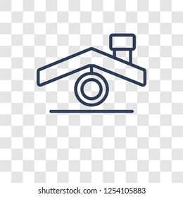 Roof icon. Trendy Roof logo concept on transparent background from Real Estate collection