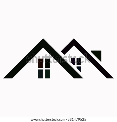 Roof Icon Vector Design Stock Vektorgrafik Lizenzfrei 581479525