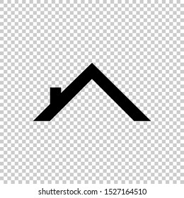 roof icon vector isolated on transparent background