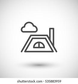 Roof line icon