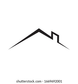 Roof logo house icon simple design. Vector