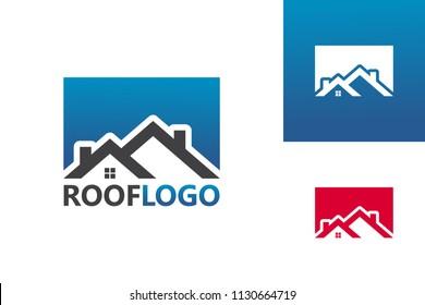 Roof Logo Template Design Vector, Emblem, Design Concept, Creative Symbol, Icon
