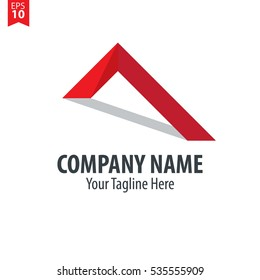 Roof Logo Vector Design Template Element Red