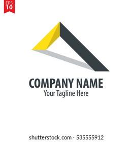 Roof Logo Vector Design Template Element Yellow Black