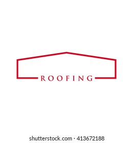 roof logo vector. template icon.