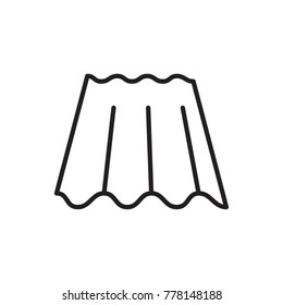 roof sheet vector icon