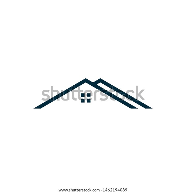 Roof Symbol Vector Logo Design Stock Vector Royalty Free 1462194089