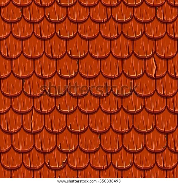 Image Vectorielle De Stock De Texture Du Toit Caricature Carrelage Rouge 550338493