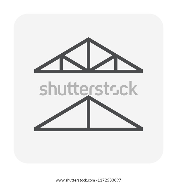 Roof Truss Icon Call Wooden Roof Stock Vector Royalty Free 1172533897