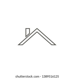 Roof vector icon. Simple element illustration from map and navigation concept. Roof vector icon. Real estate concept vector illustration.