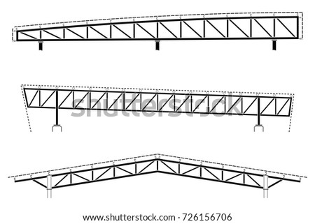 Roofing Building Steel Frame Detail Roof Stock Vector (Royalty Free ...