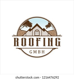 roofing logo vintage