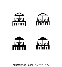 Rooftop Icon Logo Vector Symbol