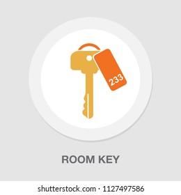 room key icon - vector key symbol. protection and security sign - vector lock symbol