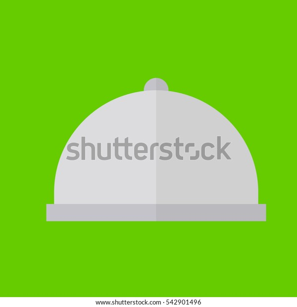 room service icon flat disign
