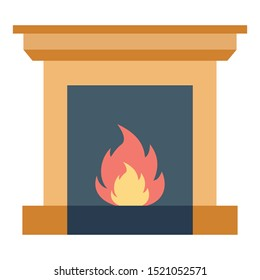 Room Stove Color vector icon fully editable